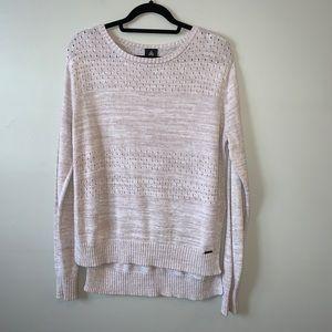 Firefly lightweight hi- low knit side slit sweater